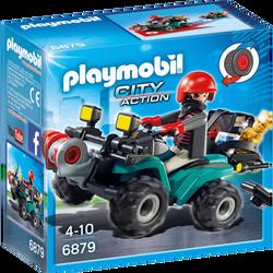 Playmobil City Action - Quad avec treuil et bandit - 6879 - Dès 4 ans