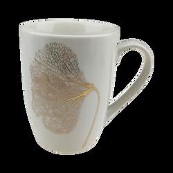 Mug décor feuille doré en céramique