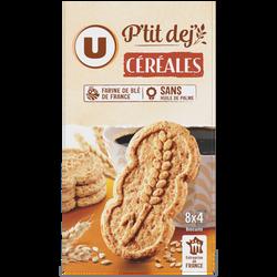 Petit déjeuner tout céréales U, paquet de 400g