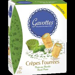 Crêpes fourrées au pesto et au basilic GAVOTTES, paquet de 60g