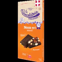 Tablette chocolat noir 70% mendiant LA CHOCOLATERIE ARTISANALE, 100g