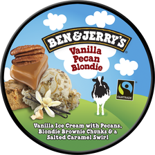 Crème glacée vanille pécan blondi BEN & JERRY'S, 414g