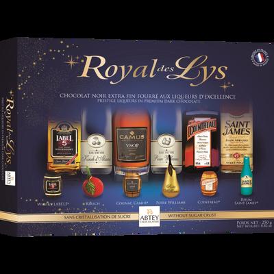 Chocolats liqueurs assorties royal des lys ABTEY, boîte de 20 unités,250g