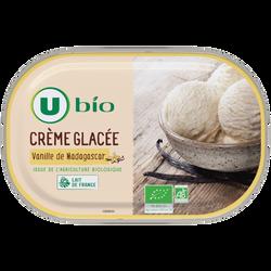 Crème glacée à la vanille de Madagascar U BIO, 471g