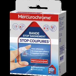 Stop coupures MERCUROCHROME, 3m x 2.5cm