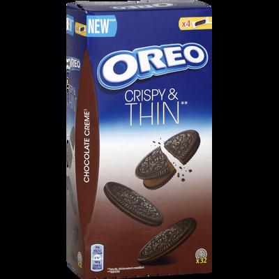 OREO crispy & thin fourrage goût chocolat, paquet de 192g