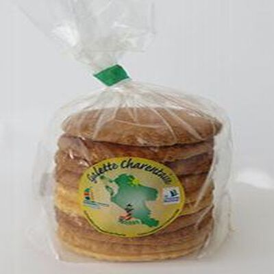 Galettes Charentaises (X10), fabrication artisanale au beurre, sachet, 300gr, Goulebenéze