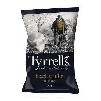 Chips de pomme de terre truffe noire et sel de mer TYRRELLS, sachet de150g
