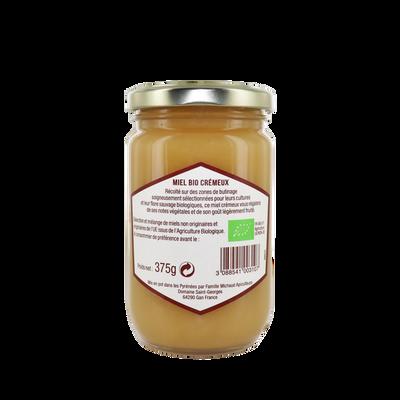 Miel crémeux biologique LA RUCHE AUX DELICES, pot en verre de 375g