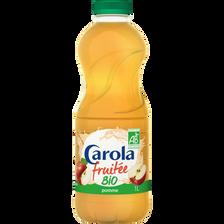 Eau plate aromatisée fruitée bio pomme CAROLA, bouteille de 1 litre