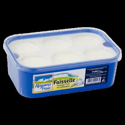 Fromage frais en faisselle ROYANS FRAIS, 6%MG, 6x125g