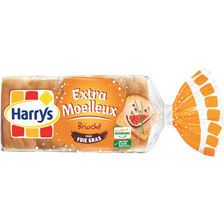 Pain de mie brioché pour foie gras HARRY'S, paquet de 250g