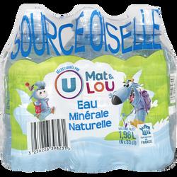 Eau minérale naturelle source Oiselle U MAT ET LOU 6x33cl