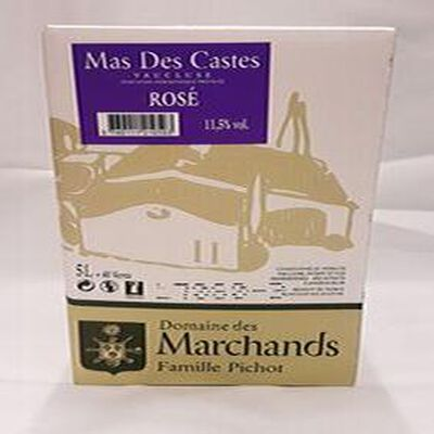 DOMAINE DES MARCHANDS MAS DES CASTES ROSÉ 11,5% vol , 5l