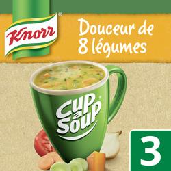 Soupe Douceur de 8 légumes cup a soup KNORR, 3 sachets de 16g