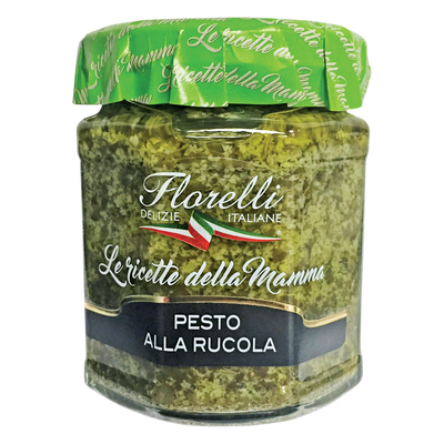 Sauce à base de roquette, d'Huile d'Olive vierge Extra et de grana padano FLORELLI D.O.P (A.O.P), 200g