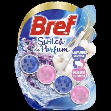 Bref Bloc Cuvette Switch De Parfum Lavande Sauvage Et Fleur De Coton Bref Wc