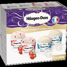 Crème glacée frozen yogurt plain strawberry, HÄAGEN DAZS, minicup 365g