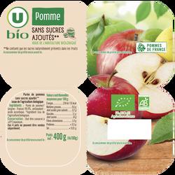Purée de pomme sans sucres ajoutés U BIO, 4X100g