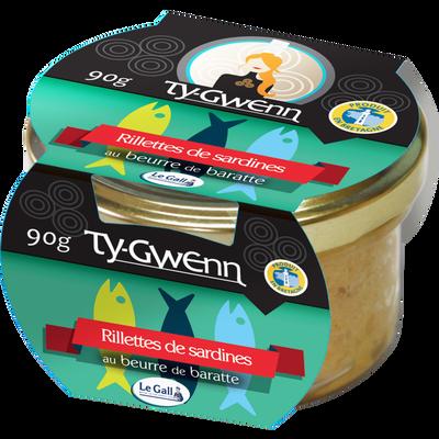 Rillettes de sardines au beurre de baratte TY GWENN, 90g