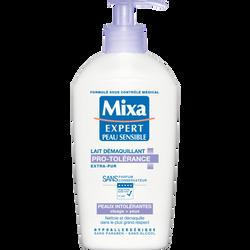 Lait démaquillant expert pour peaux intolérantes pro-tolérance MIXA, 2flacons de 200ml