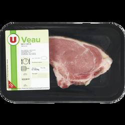 Côte de veau ***, avec os, à griller, U, France, 1 pièce