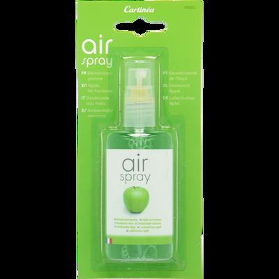 Spray désodorisant de poche parfumé pomme CARLINEA, 75ml, translucide,à utiliser en voiture, au bureau, à la maison...