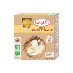 Gourde semoule vanille BABYBIO, 4x85g