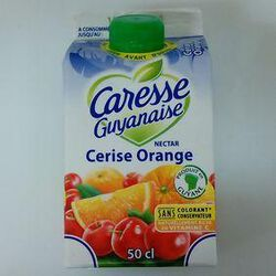 CARESSE GUYANAISE NECTAR CERISE/ORANGE 1/2L