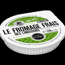 Fromage frais Val des Limousins lait pasteurisé 12% de MG, LAITERIE LES FAYES, 180g