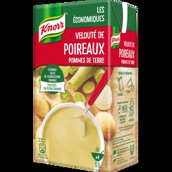 Velouté de poireaux pomme de terre Les économiques KNORR, brique 1 litre