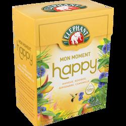Infusion mon moment happy mangue, rooibos, gingembre et camomille ELEPHANT, boîte de 50g