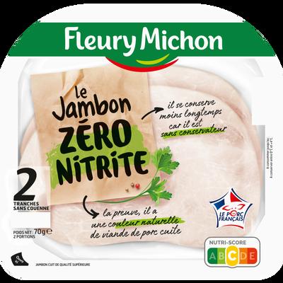 Jambon de porc zéro nitrite FLEURY MICHON 2 tranches 70g