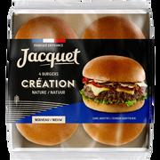 Jacquet Pain Pour Hamburger Création Nature Jacquet, X4 Soit 260g