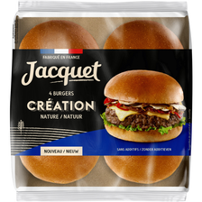 Jacquet Pain Pour Hamburger Création Nature , X4 Soit 260g
