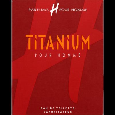 Eau de toilette Titanium H POUR HOMME, 75ml
