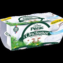 Yaourt onctueux au lait de brebis nature LOU PERAC, 4 pots x115g