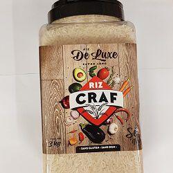 Riz de luxe extra long, CRAF, le bidon de 3kg