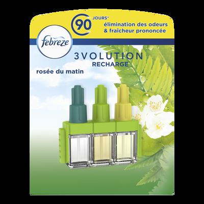 Désodorisant recharge 3volution  parfum rosée du matin FEBREZE