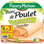 Fleury Michon Blanc Poulet Doré Au Four Fleury Michon 6tr+3 Offertes 270g
