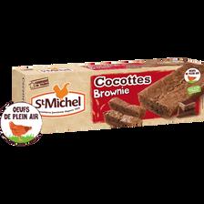 Le brownie cocottes chocolat noir ST MICHEL, 240g