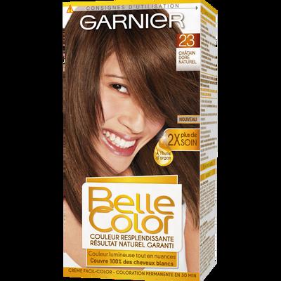 Coloration permanente BELLE COLOR, châtain doré n°23