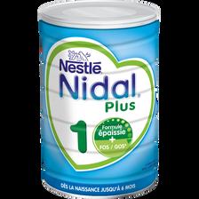 Nestlé NIDAL plus 1 er âge de 0 à 6 mois, 800g
