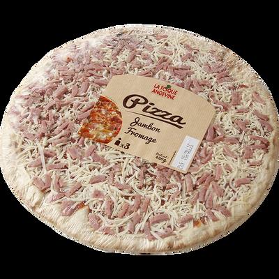 Pizza au jambon fromage fondu et à l'emmental, 450g