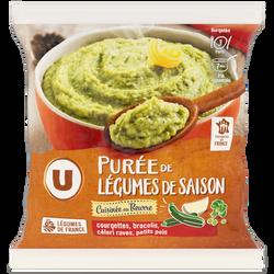 Purée de légumes de saison cuisinée U, sachet de 750g