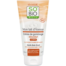 Crème de gommage hydratante douceur pour corps au lait d'ânesse Bio LEA NATURE, tube de 150ml
