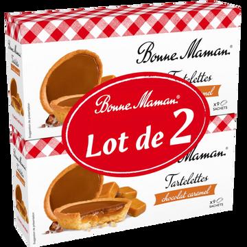 Bonne Maman Tartelettes Chocolat Lait/caramel Bonne Maman, 2x135g, 270g