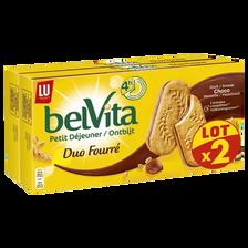 LU Petit Déjeuner Coeur Fondant Goût Choco/noisette Belvita, X2, 506g