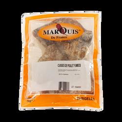 Cuisse poulet cuit fumé congelé MARQUIS DE FRANCE, sachet de 1kg