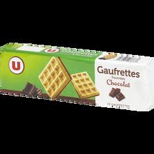 Gaufrettes fourrées chocolat U, paquet de 110g